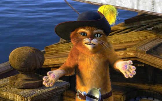 online, кот, смотреть, cartoon, шрэк, кота, сапогах, хорошем, шрека,