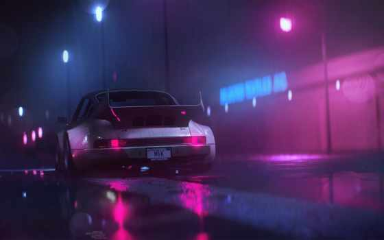 miami, porsche, synthwave, carrera, life, thank, you, wonder, regranned