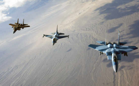 fighter, three, fighters, jet, formation, aircraft,