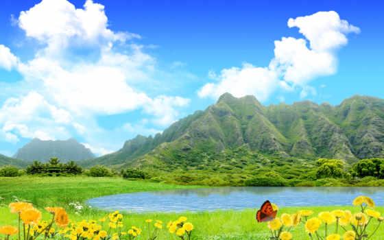 горы, природа, небо Фон № 123898 разрешение 1920x1200