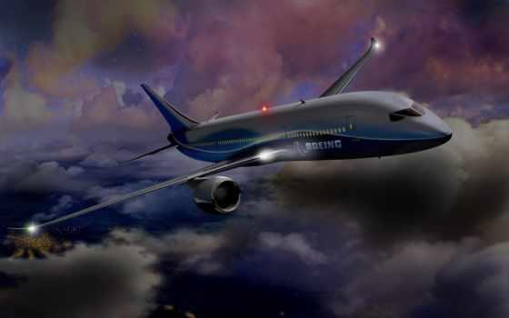 boeing, самолёт, civil, набирает, авто, высоту,