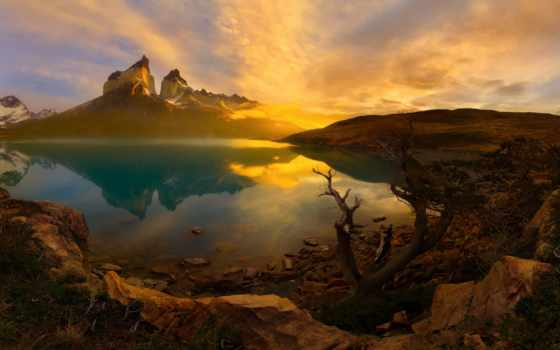 анды, горы, южная, patagonia, американский, chile, park, national, del, torres, paine,