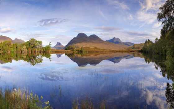 papéis, parede, escócia, ordered, релевантность, lago, montanhas, searching, paisagem, galaxy,