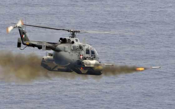 вертолет, ракеты, военный