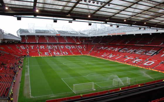 стадион, олд, траффорд, англия, поливают, football, готовят, спорт,