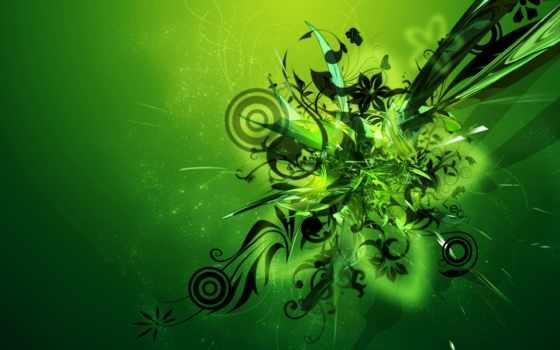 абстракция, узоры, зелёный, форма, rar, фона, яркие, абстрактная, абстракциями,