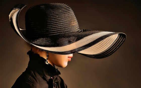 девушка, шляпа, стиль