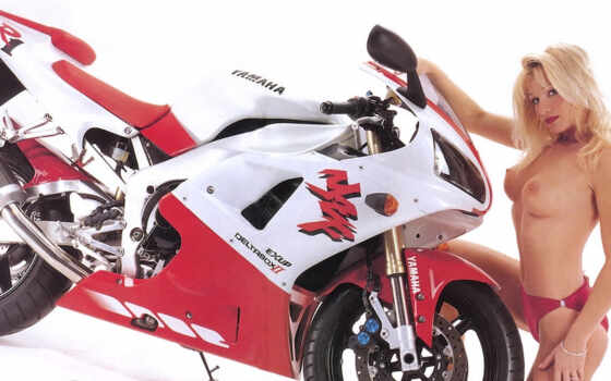 yamaha, yzf, babes, фото, red, white,