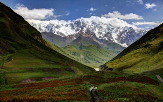 грузия, georgia, горы, грузии, svaneti, пейзажи -, грузинская,