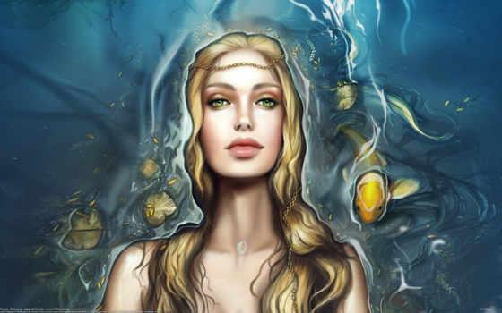 русалки, лицо, fantasy, pisces, water, devushki, девушка, взгляд, русалка,