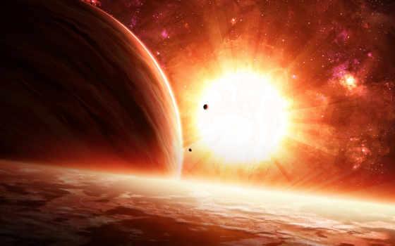 космос, outer, planets, ay, star, stars, duvar, kağıdı, sign,