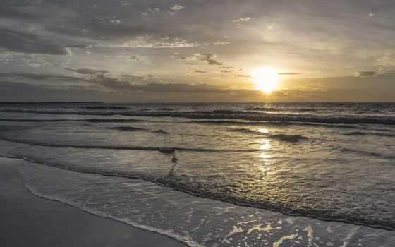 природа, море, landscape, небо, clouds, scene, восход,