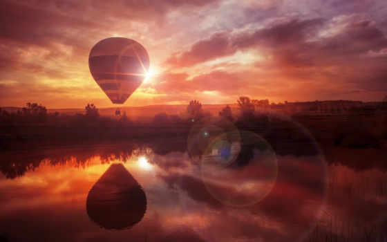 air, hot, balloon, закат, downloads, balloons, covers,