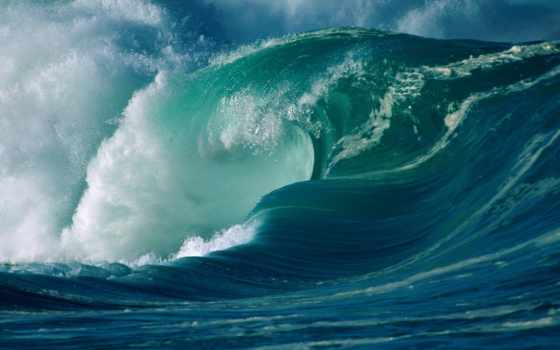 волна, девушка, blue, море