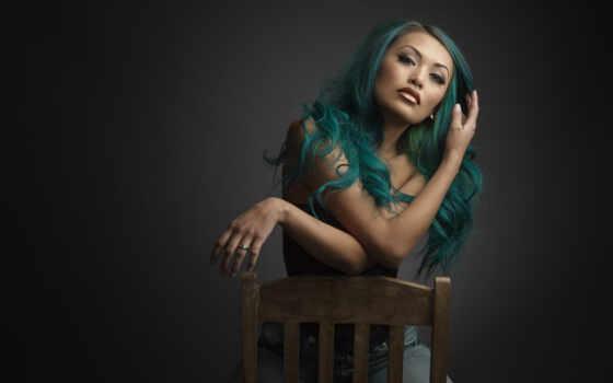 portrait, девушка, free, кресло, волосы
