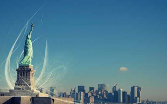 freedom, статуя, миро, york, нью, liberty, sculpture