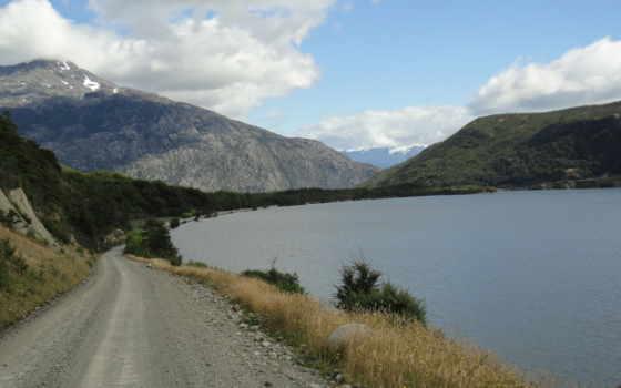 дорога, озеро