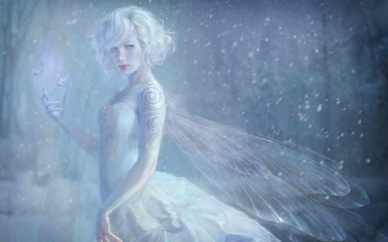 fairy, marta, white, fantasy, art, nael, красивые, девушка, картинку, просмотров, pictures, чтобы, andres, black,