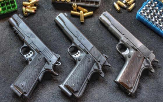 оружие, пистолет, кольт, 1911, патроны