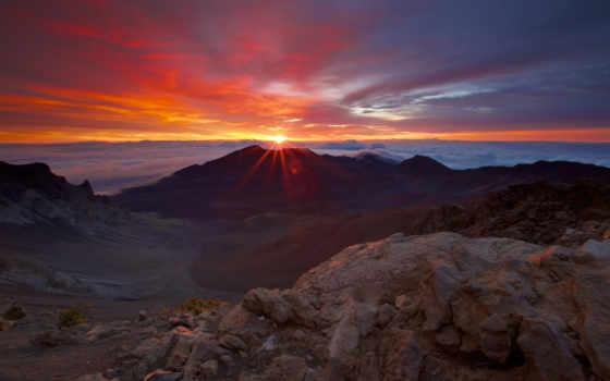 закат, восход, usa