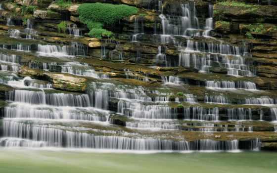 tennessee, great, falls, landscape, природа, state, park, река, caney, остров,