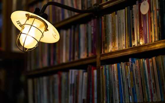 фото, книга, библиотека, лампа