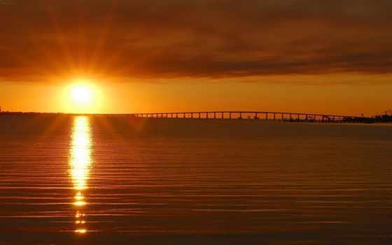 закат, море, небо Фон № 71104 разрешение 1920x1200