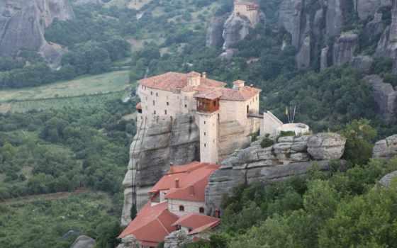 greece, метеоры, монастыри, предпросмотром, качественные,