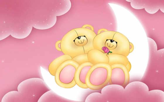 teddy, love, медведь