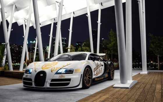 bugatti, veyron, супер, спорт, goldrush, pur, blanc, rally, supersport, side, gallery,
