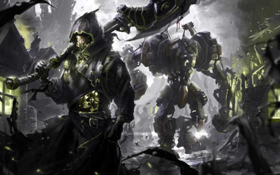 воин, топор, robot