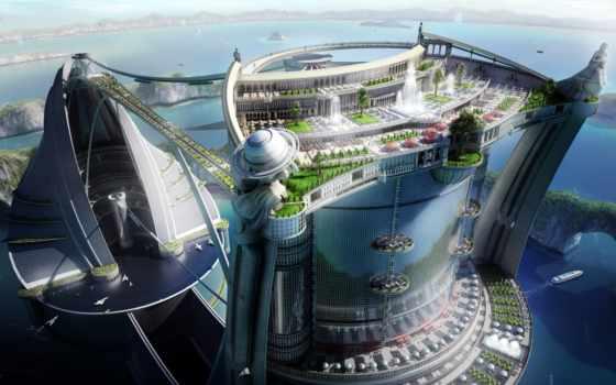 будущего, город, города