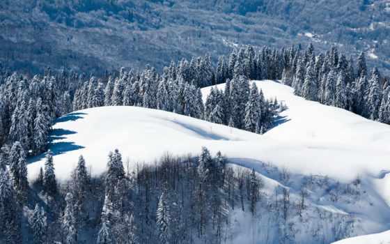 природа, гора, landscape, красная, поляна, лес, winter, сочи, russian,