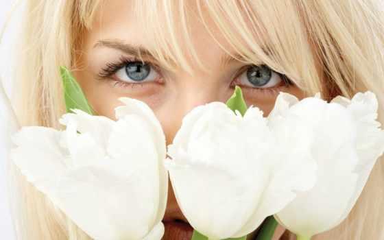 devushki, белые, тюльпаны, девушка, blonde, вуалью, сайте, картинка, аватары, victor,