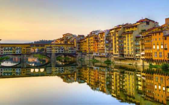 ponte, vecchio, мост, florence, веккьо, italy, italian, firenze, река,