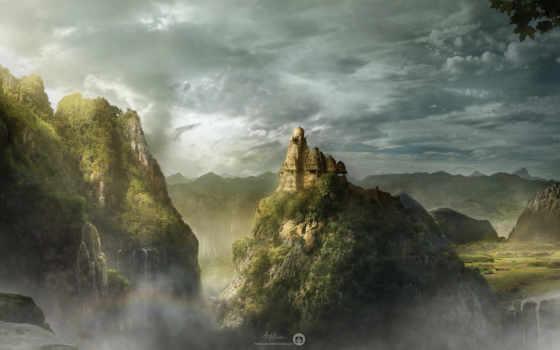 castle, гора, art, kingdom, fantasy, pin, discover, хороший, season