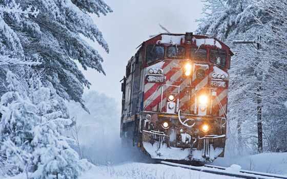 снег, id, поезд, winter, parede, zug, поезд, pantalla, favorite