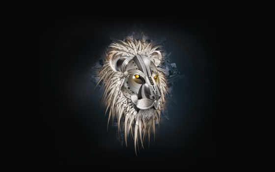 wallpaper, лев