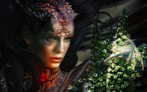 artwork, dragon