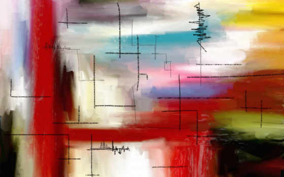 картина, краски