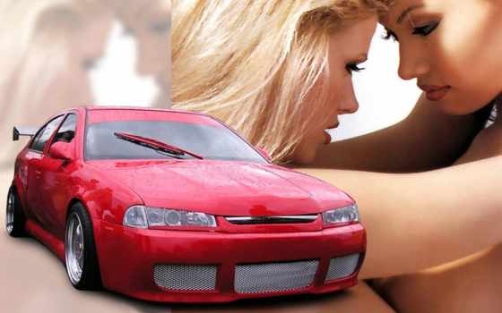 девушки, авто, автомобили