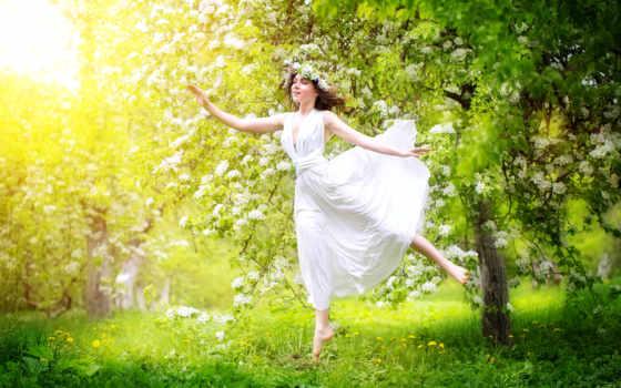 wiosna, kobieta, портрет, pobierz, młoda, piękna, ilustracji, najwyższej, obrazów, zdjęć, milionów,