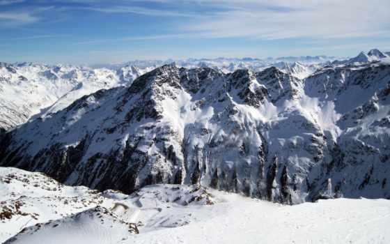 горы, природа, trail, nissan, winter, ущелье, драйв, скалы, sölden, категория, совершенно,