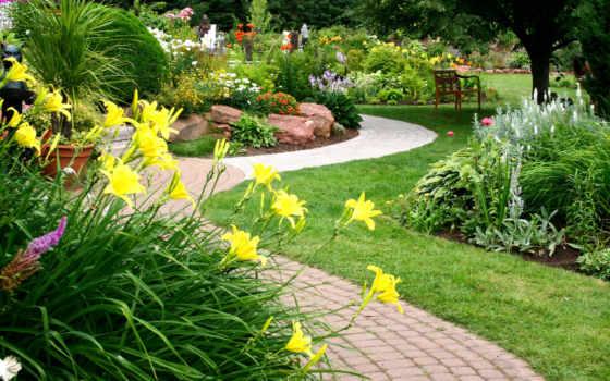 дома, двор, частного, красивый, design, двора, своими, landscape, руками,