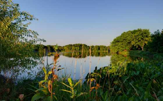 пейзажи -, gül, озеро, desktop, mobile, телефон, farquar, manzara, park,