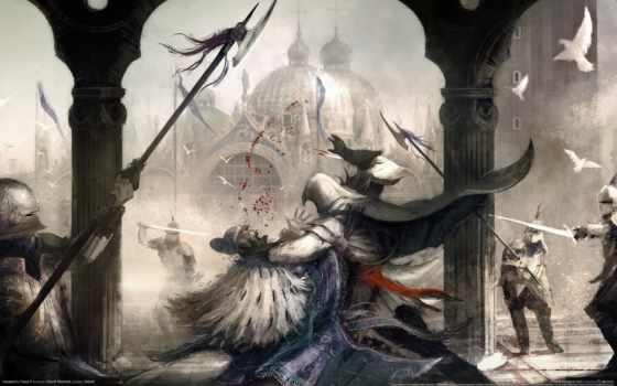 assassin, creed, one, всех, unity, xbox, против, рыцарь, назад, beon,
