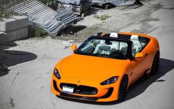 maserati, granturismo, оранжевый, car, машины, автомобили, яndex, matte,