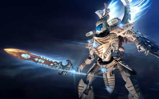 warhammer, war, iii, рассвет, eldar, you, wraithknight,