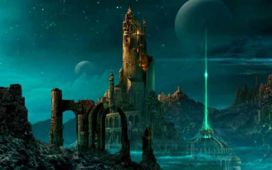 fantasy, город, коллекция, будущее, castle, fantastic, world, другой, art, illustration