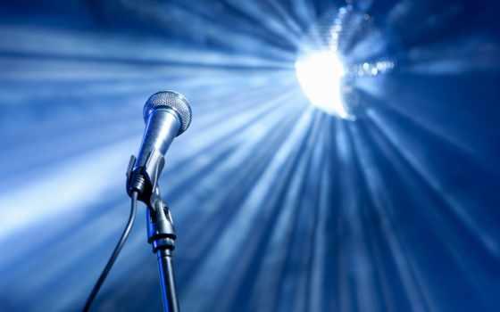 микрофон, красивый, stage, зеркало, только, mic, против, июня, stock,